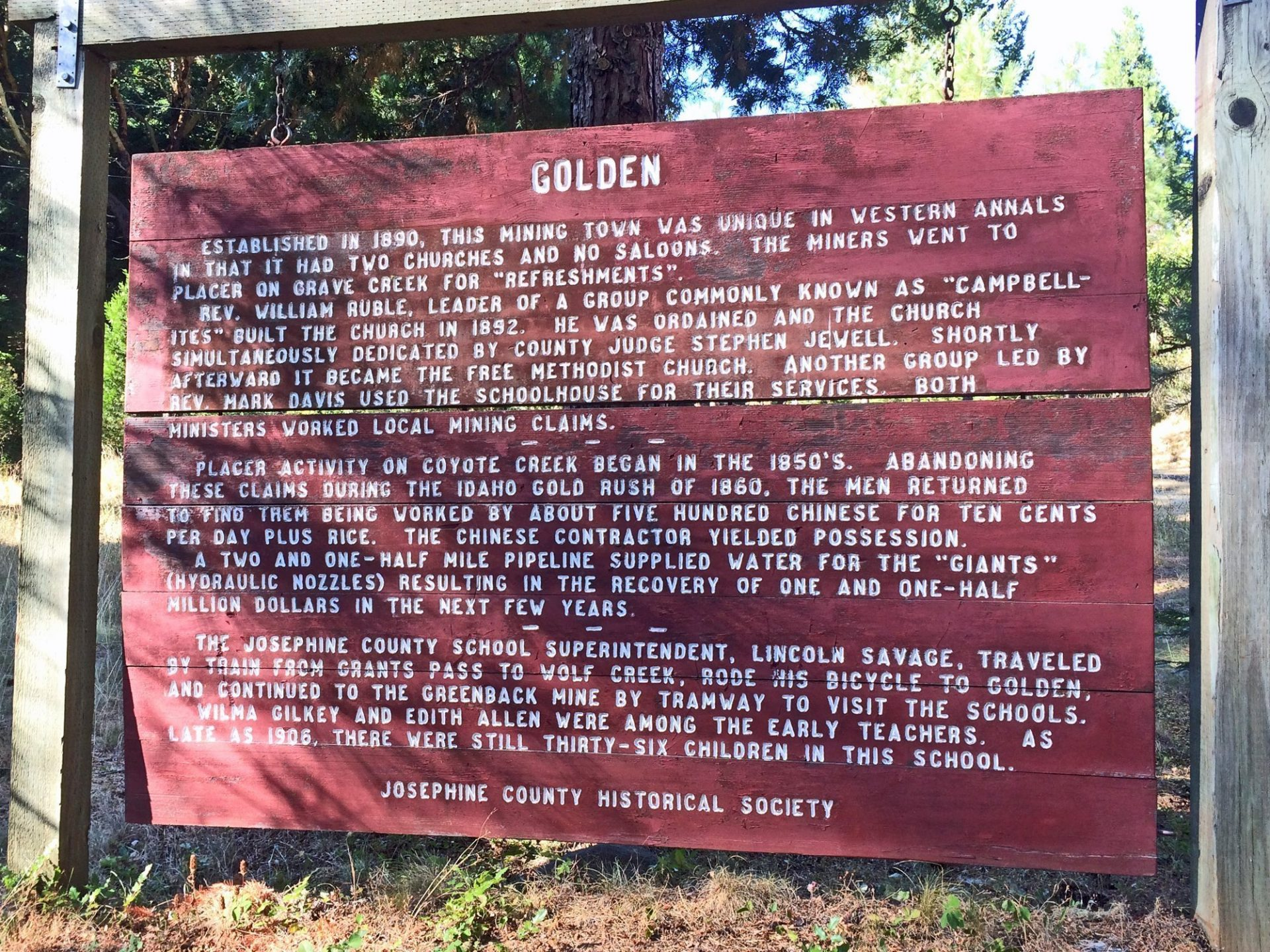 Golden, Oregon - a ghost town in Oregon