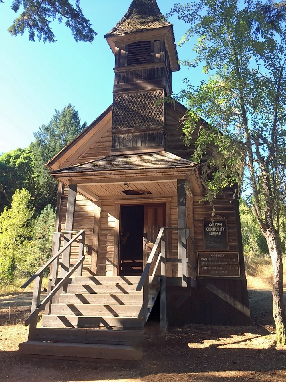 Church at Golden, Oregon