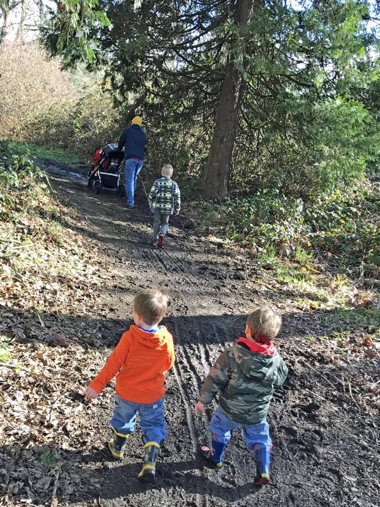 Kid-friendly hike with stroller at Elijah Bristow