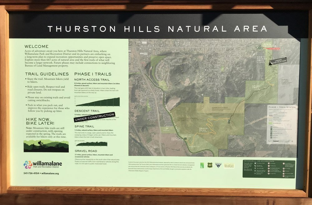Thurston Hills Natural Area Interpretive Sign