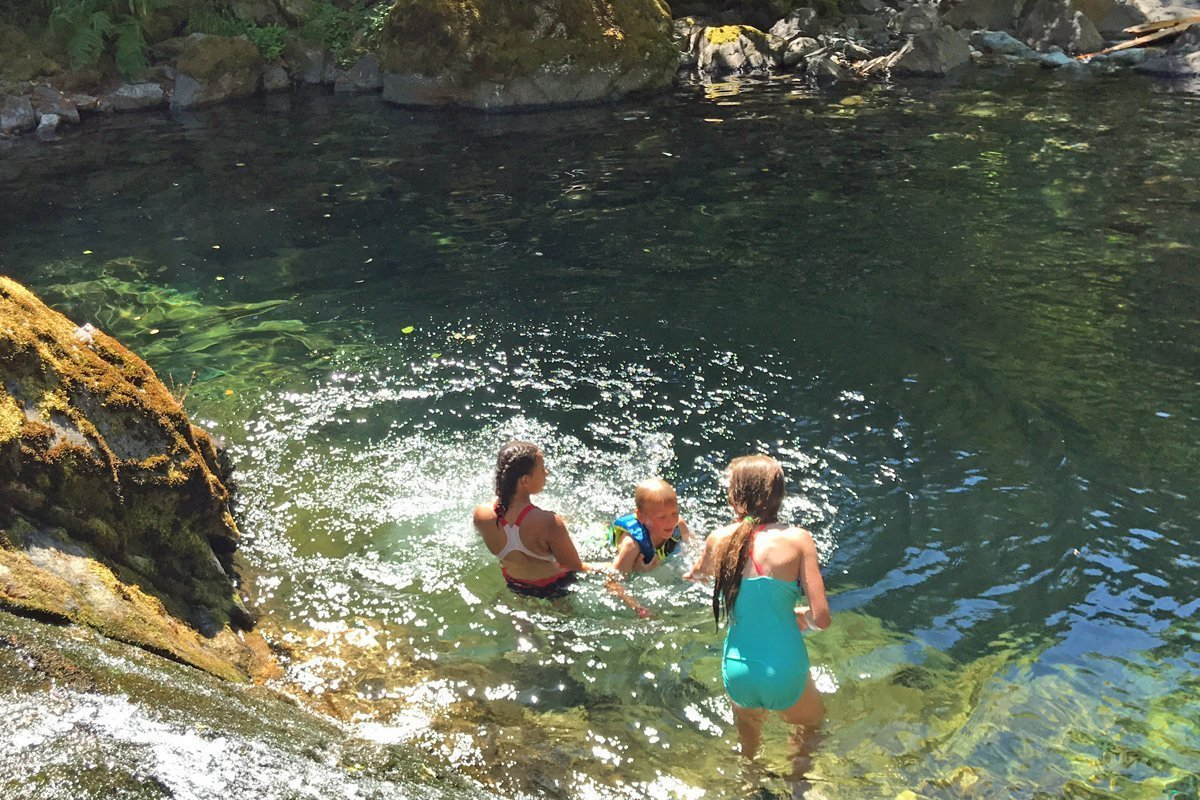 Natural swimming hole near Lund Park Campground