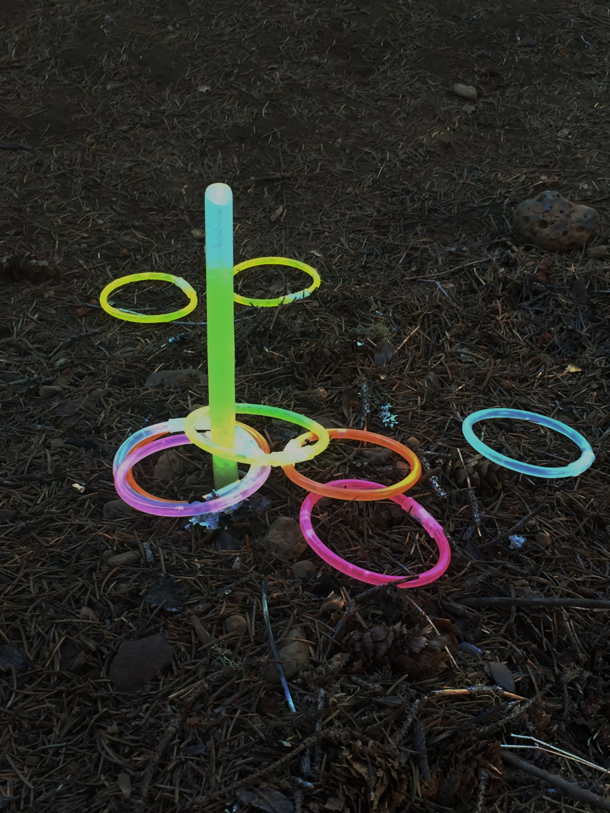 Glow Ring Toss - camping activity for kids at night