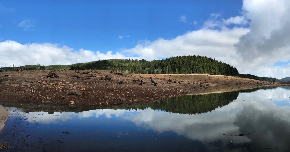 Fall Creek Lake - great winter hike near Eugene