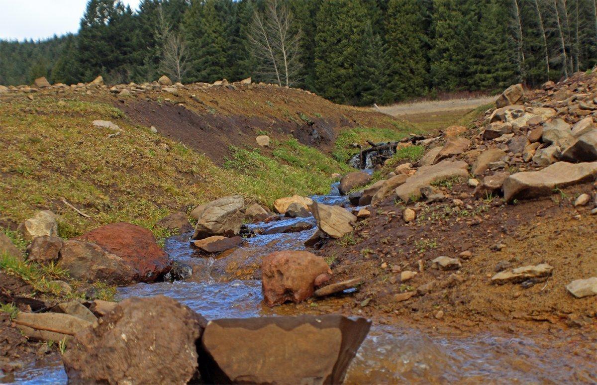 Fall Creek Reservoir when it's empty
