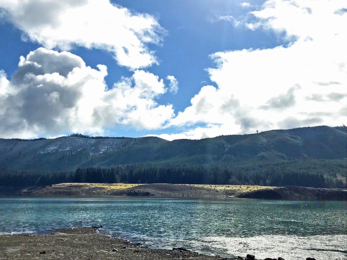 Hiking with kids in Fall Creek Lake in Oregon