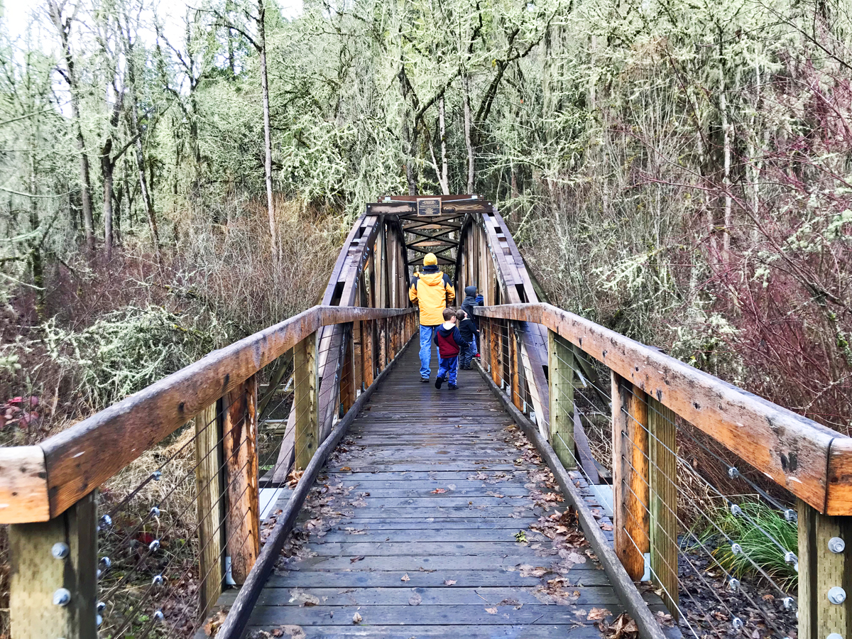 Mt Pisgah Water Garden trail is great for hiking with kids near Eugene