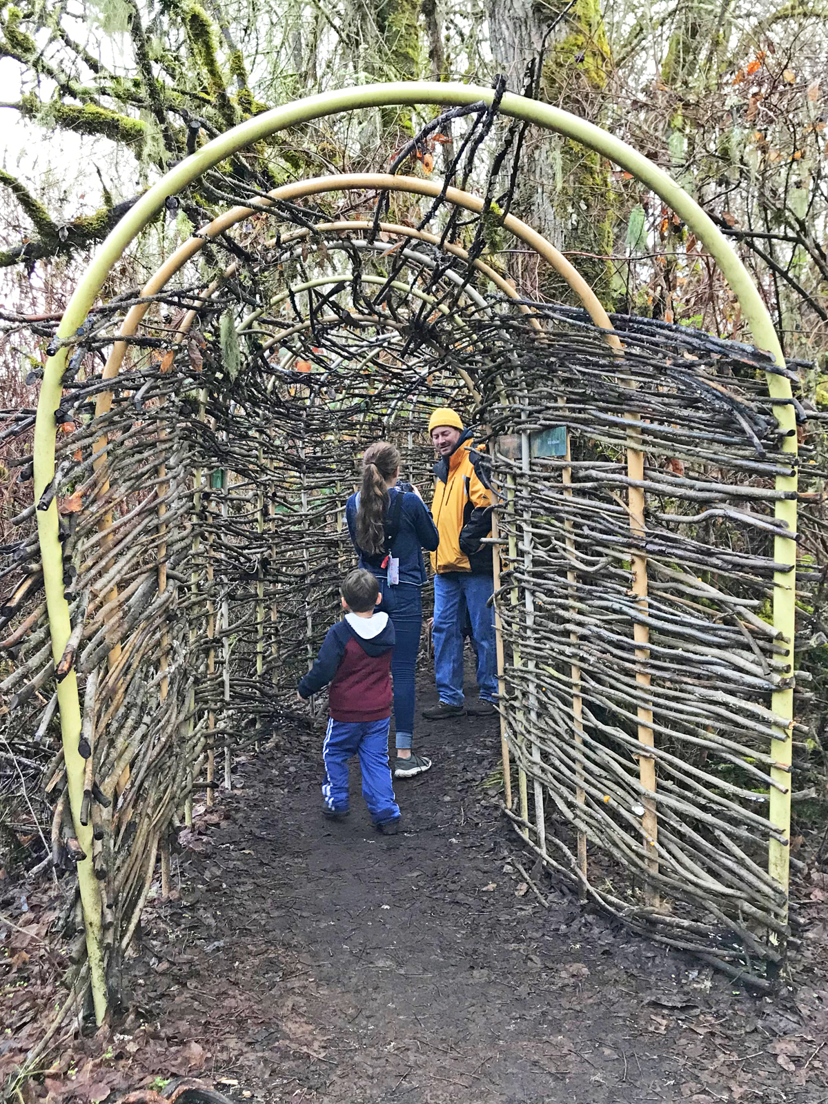 Bird blind exhibit at Mt Pisgah near Eugene