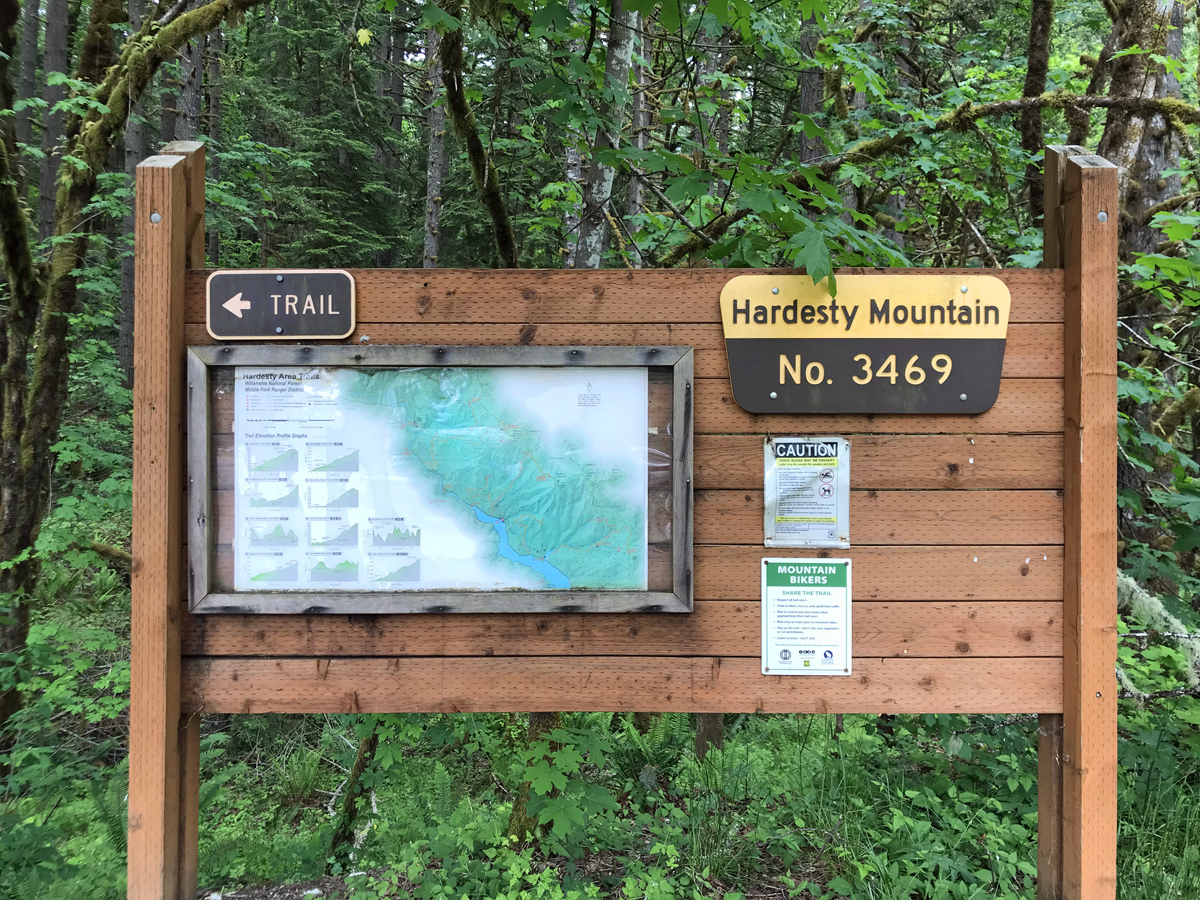 Goodman Creek Trail and Hardesty Mountain trailhead off highway 58 in Oregon