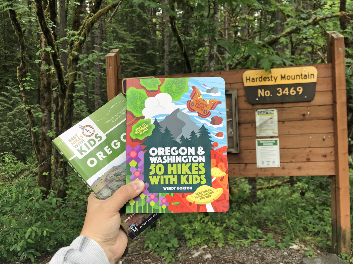 Books about hiking with kids in Oregon