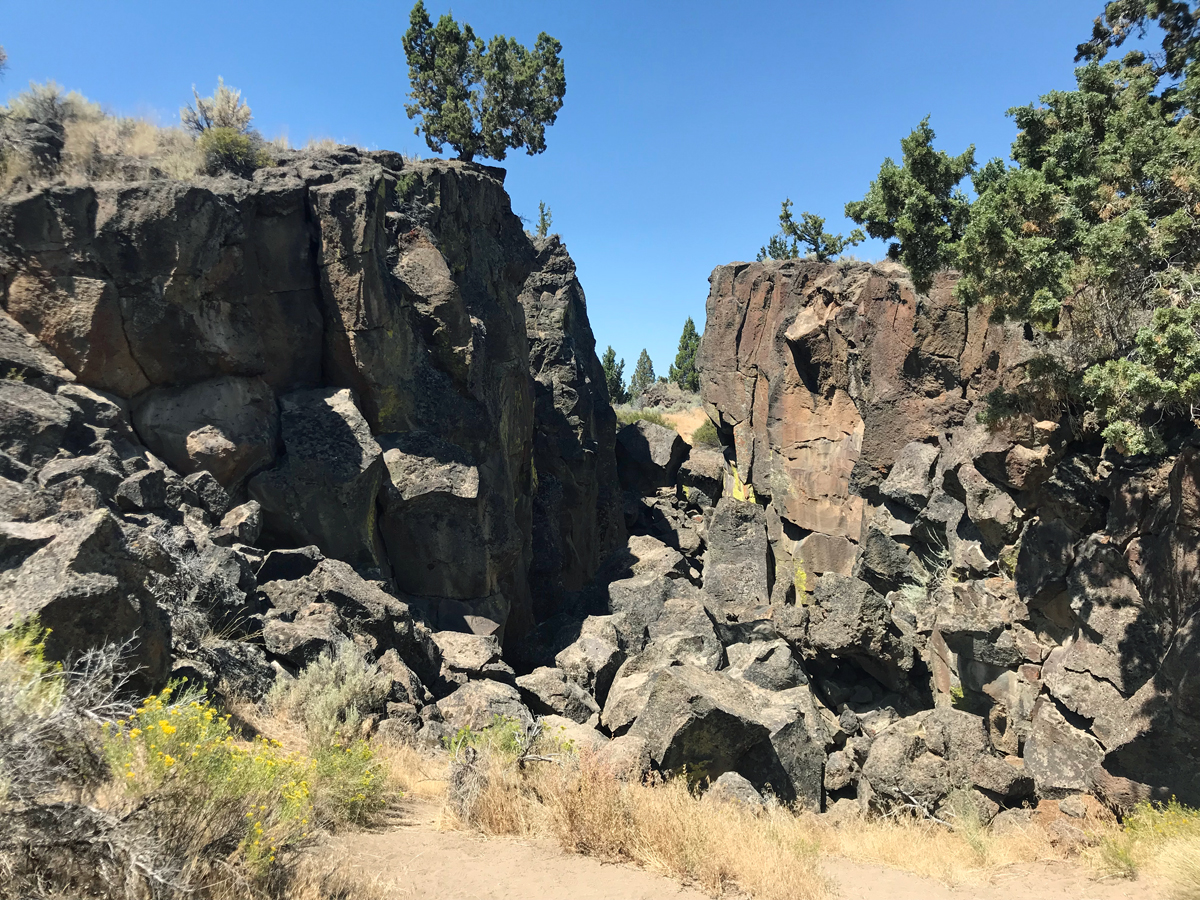 North side of Crack in the Ground in oregon