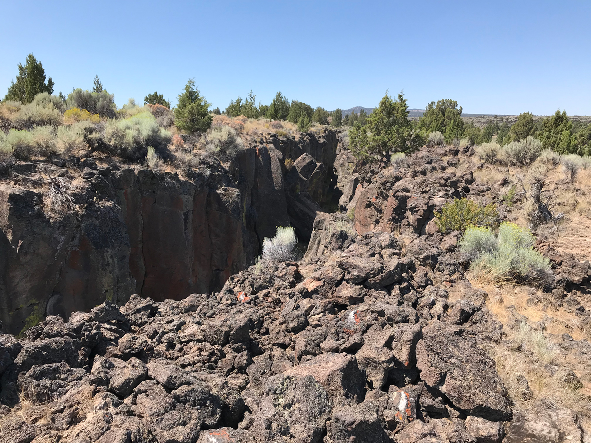 Crack in the Ground, Oregon - a volcanic fissure that left a slot canyon in Eastern Oregon