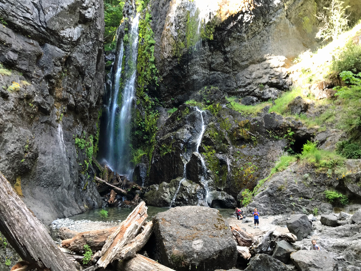 Henline Falls and Silver King Mine in Oregon