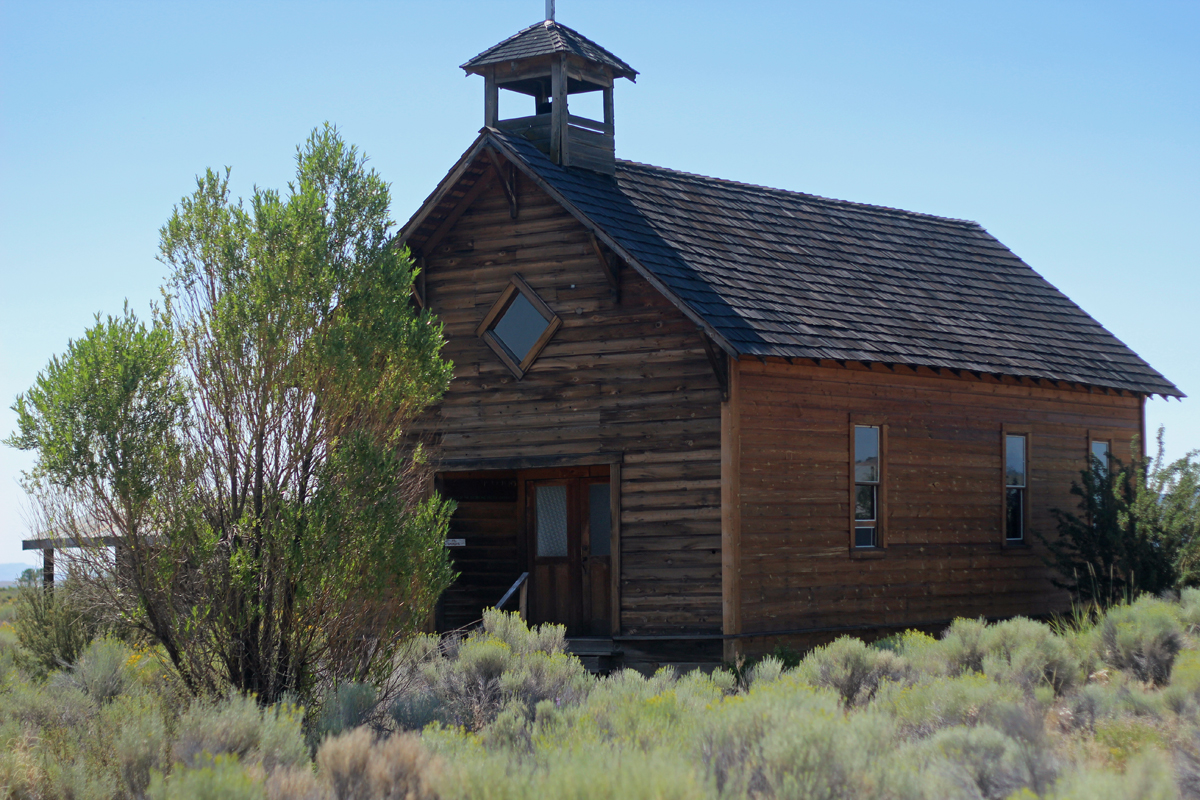 Church at the Homestead Village Museum in Fort Rock, Oregon