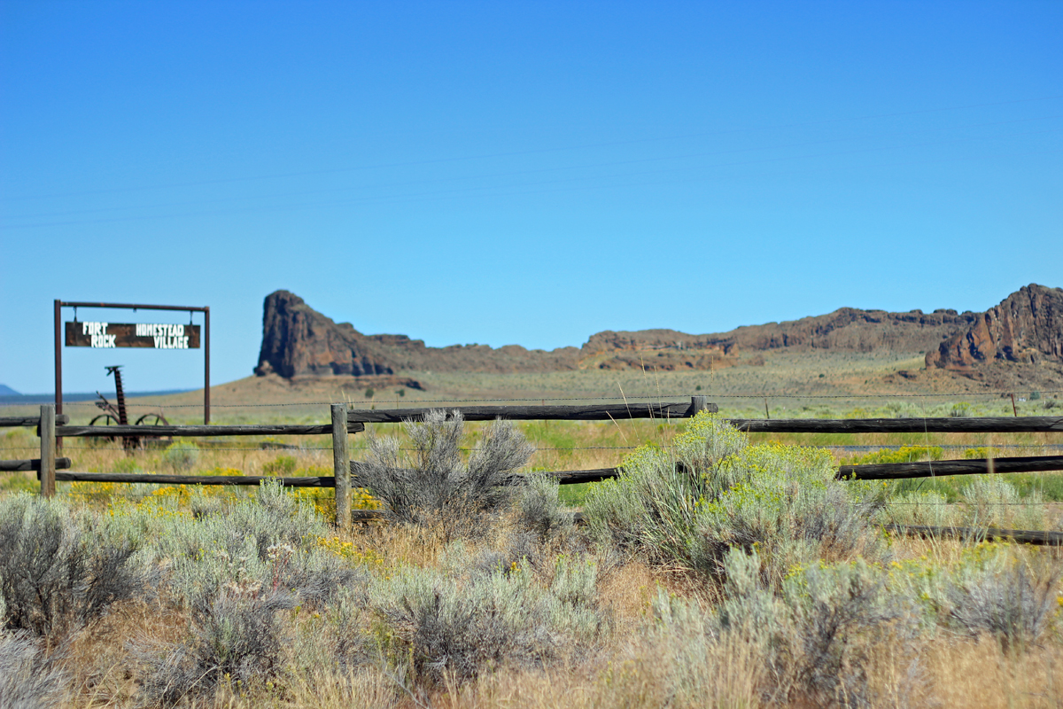 Fort Rock Homestead Museum is across the highway from Fort Rock