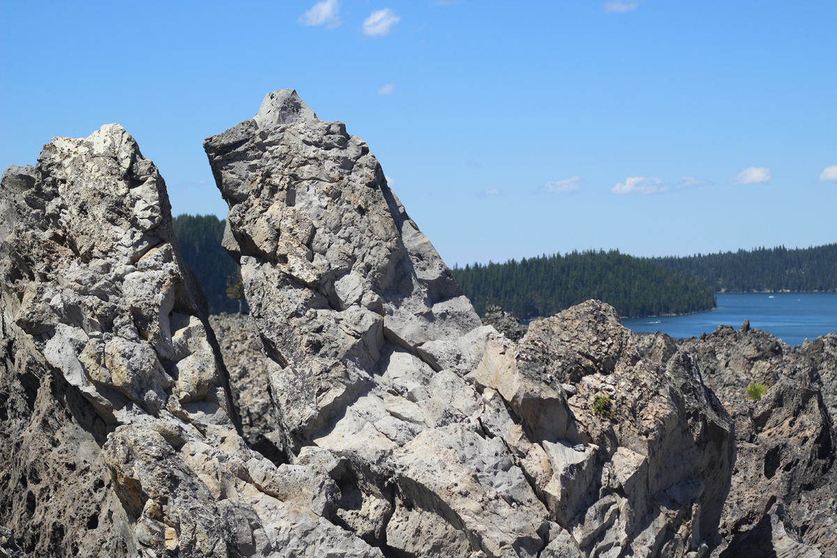Obsidian at the top of Big Obsidian Trail