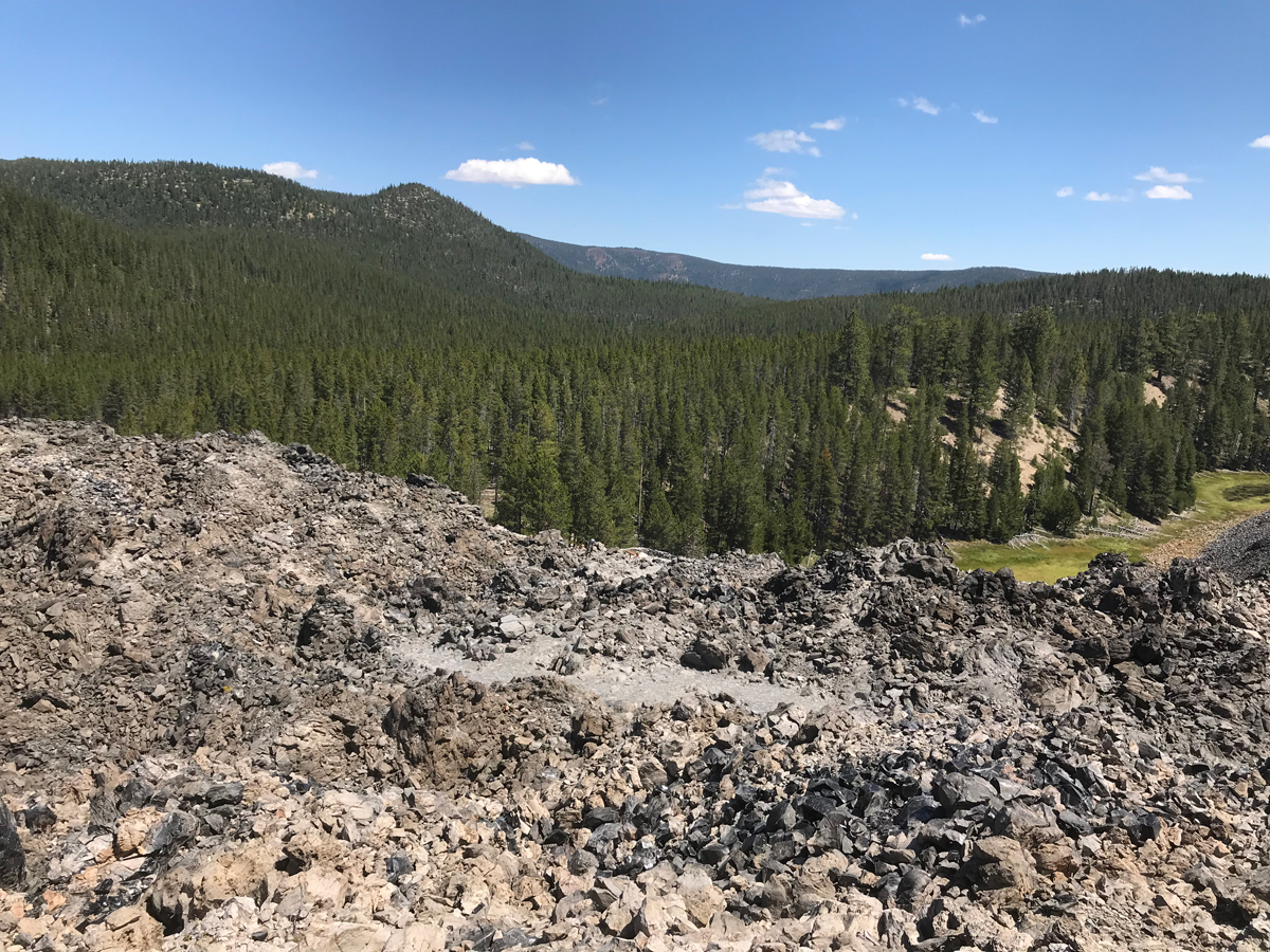View from Big Obsidian Flow trail at Paulina Lake