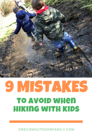 Pinterest Pin - 9 Mistakes to Avoid when hiking with kids