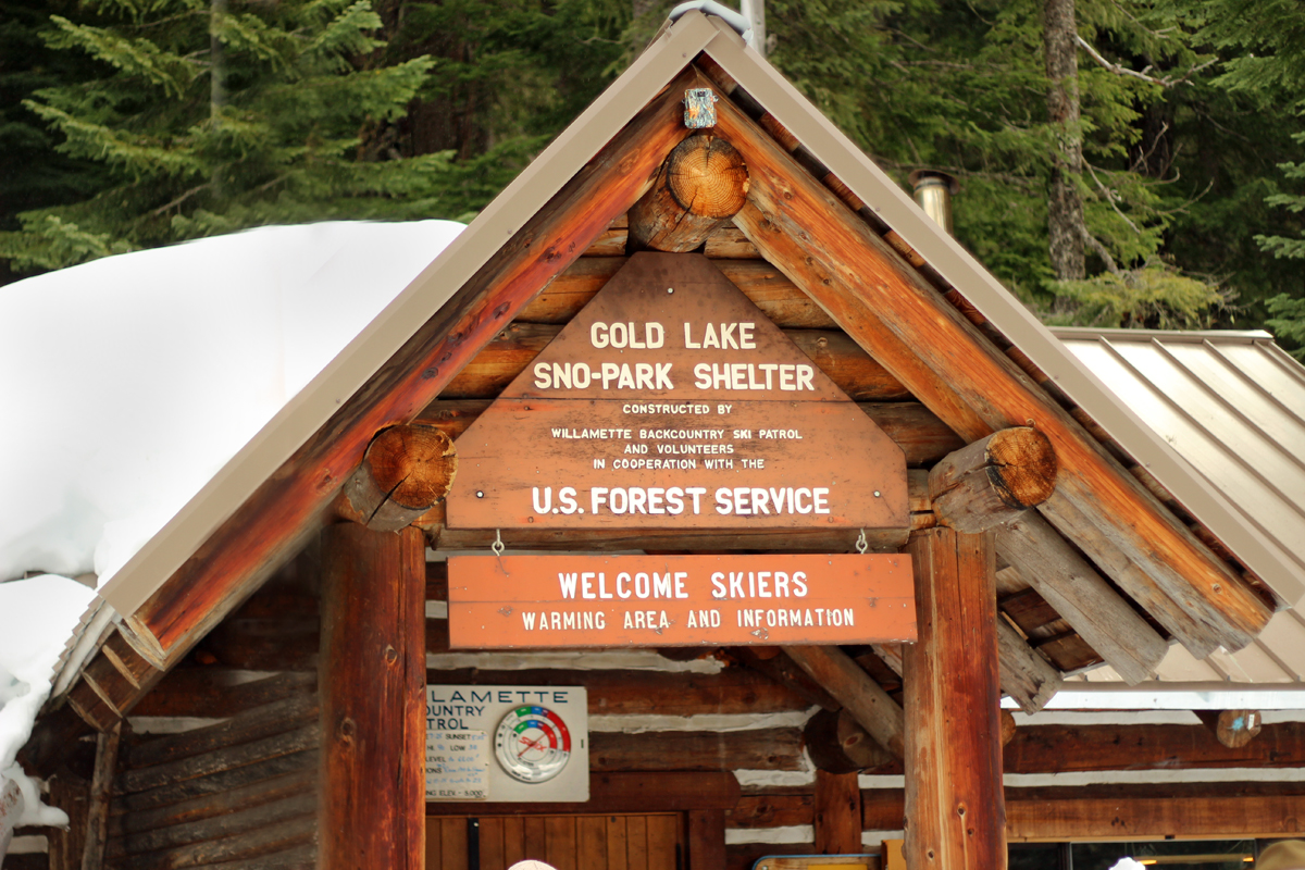 Gold Lake Sno-Park Shelter and ski patrol lodge