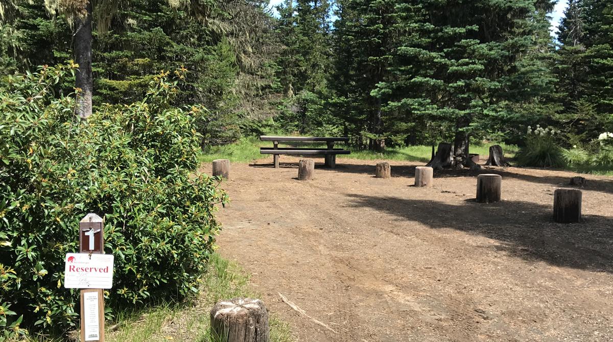 Campsites at Big Lake Campground