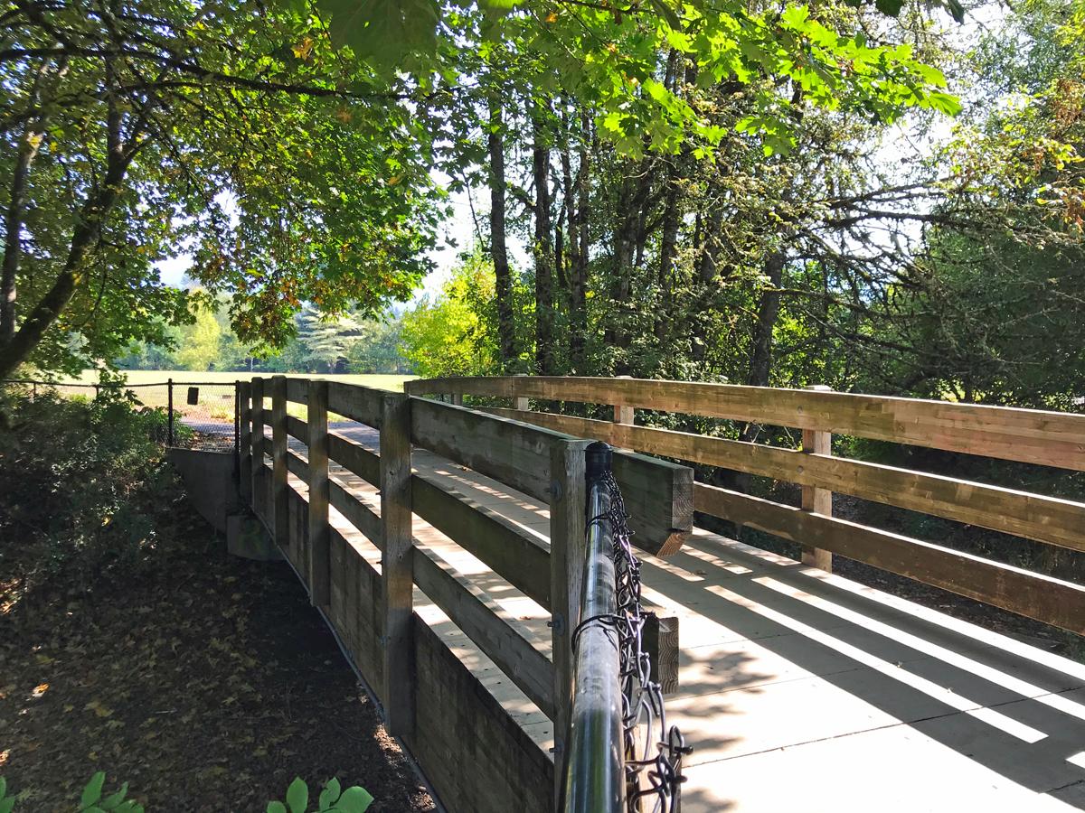 Bridge over Cedar Creek in Ruff Park, Springfield