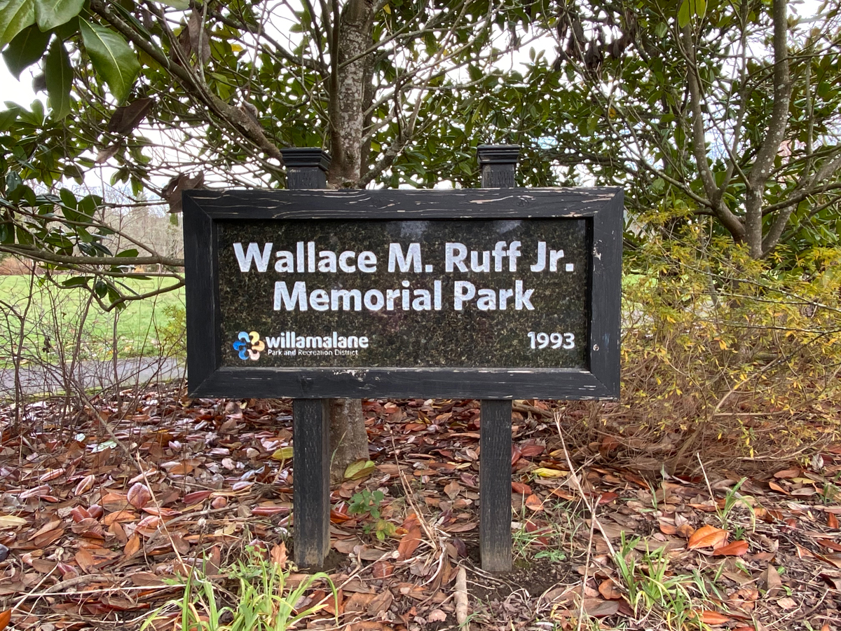 Wallace M. Ruff Jr Memorial Park in Springfield, Oregon (also known as Ruff Park)